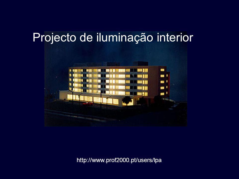 2 Introdução O método que vamos utilizar no projecto de iluminação geral interior é o método dos fluxos (*).
