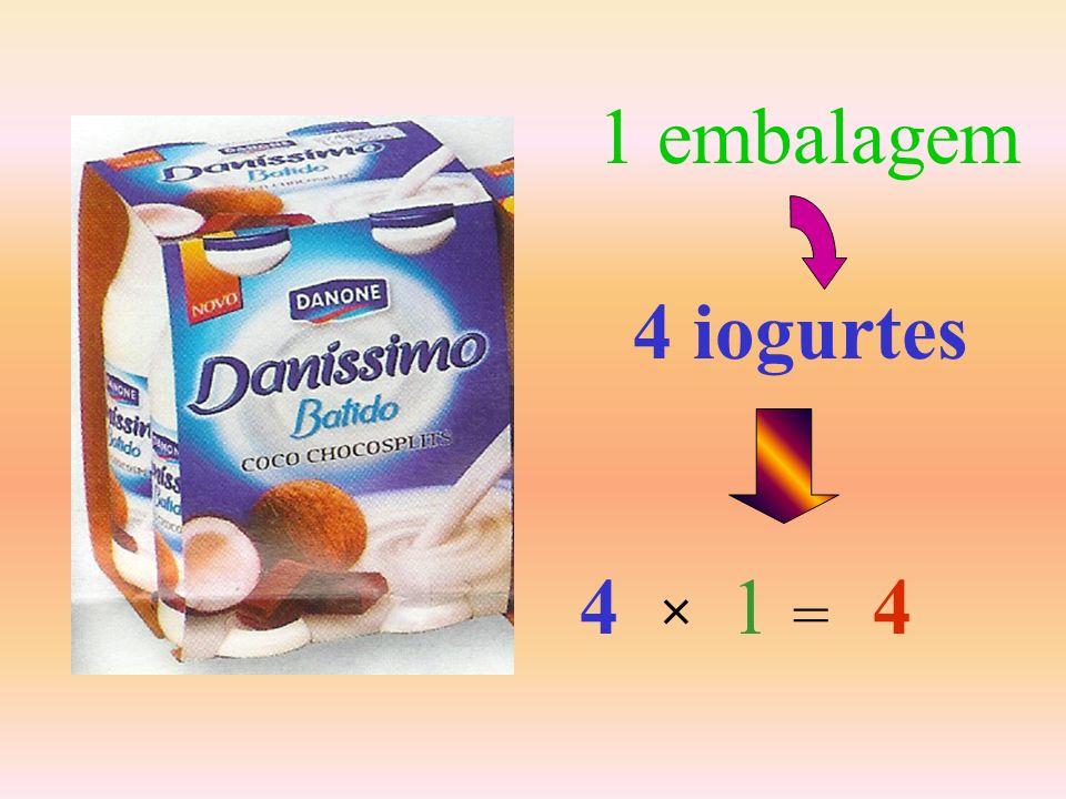 2 embalagens 4 × 2 = 8
