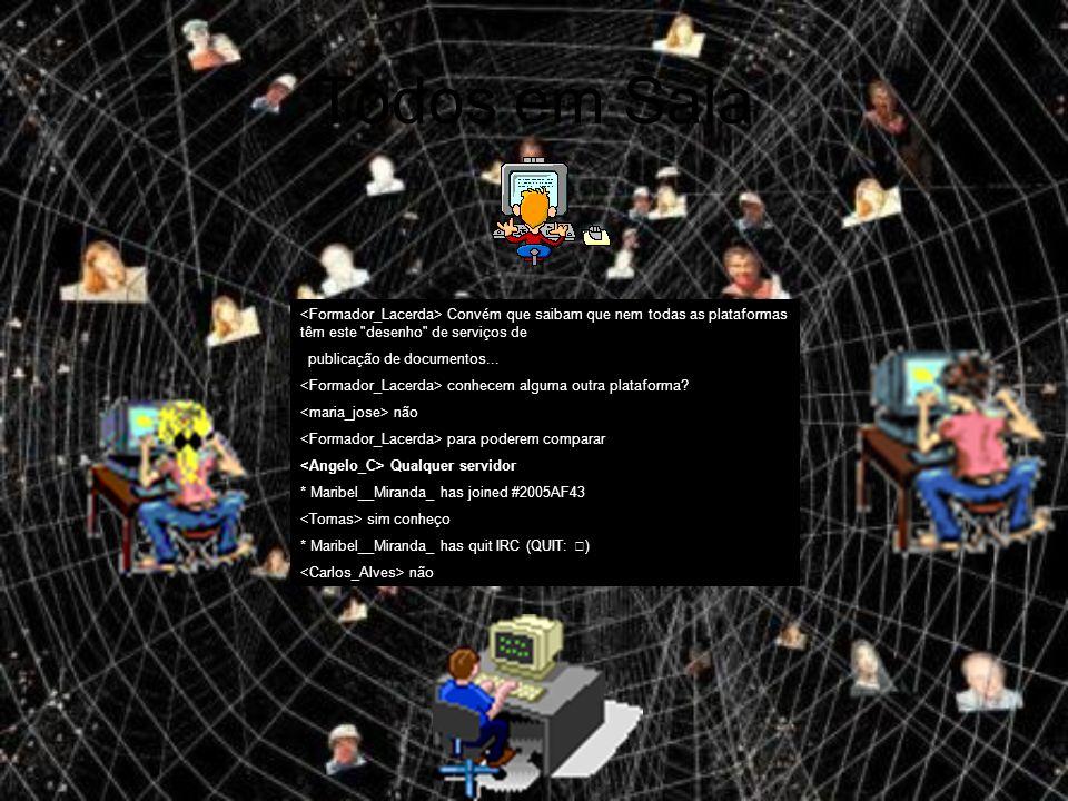 Todos em Sala Convém que saibam que nem todas as plataformas têm este desenho de serviços de publicação de documentos...