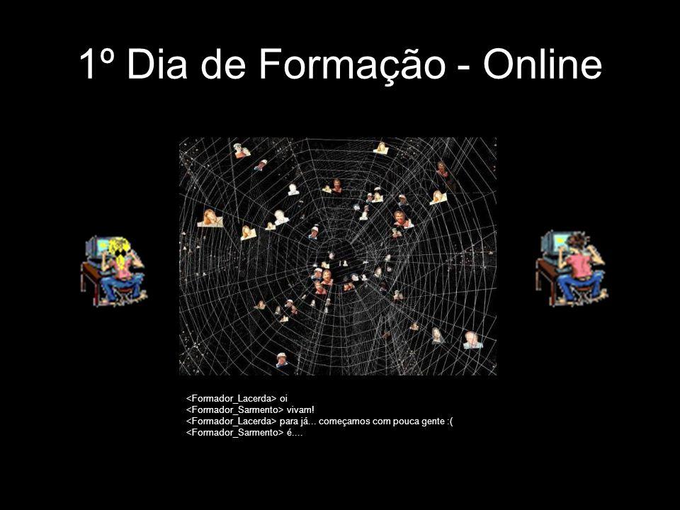 1º Dia de Formação - Online oi vivam! para já... começamos com pouca gente :( é....
