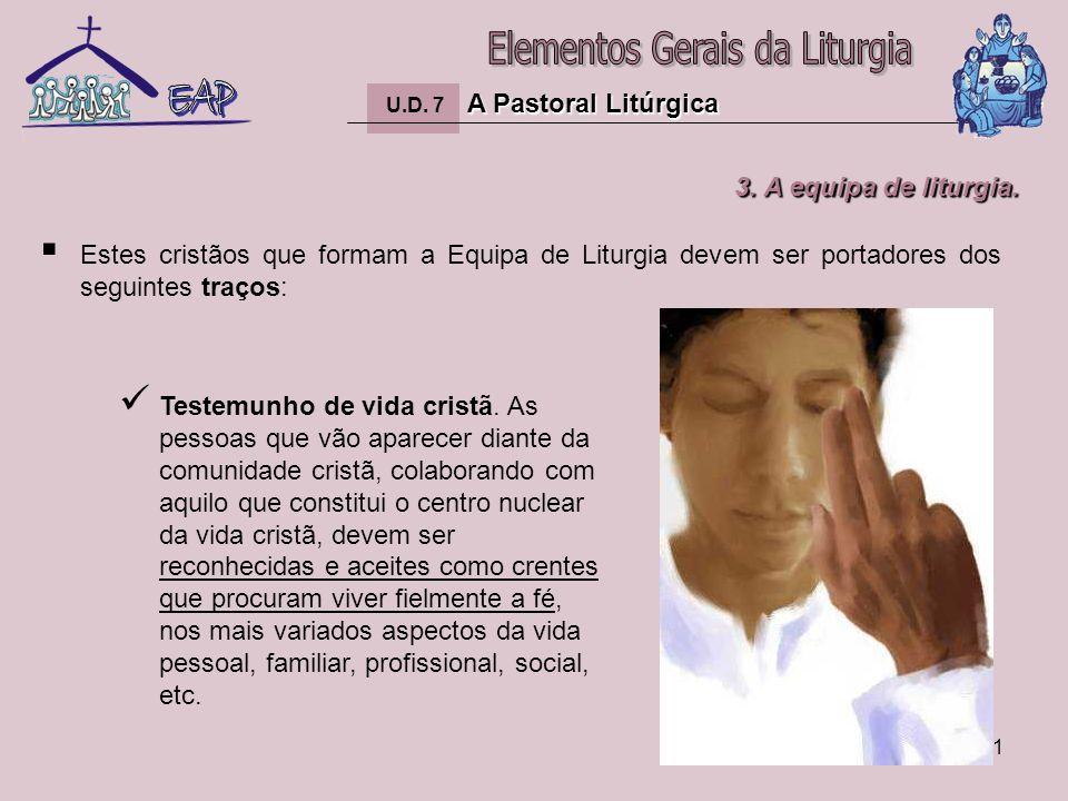 22 A Pastoral Litúrgica U.D.7 A Pastoral Litúrgica Sensibilidade litúrgica.