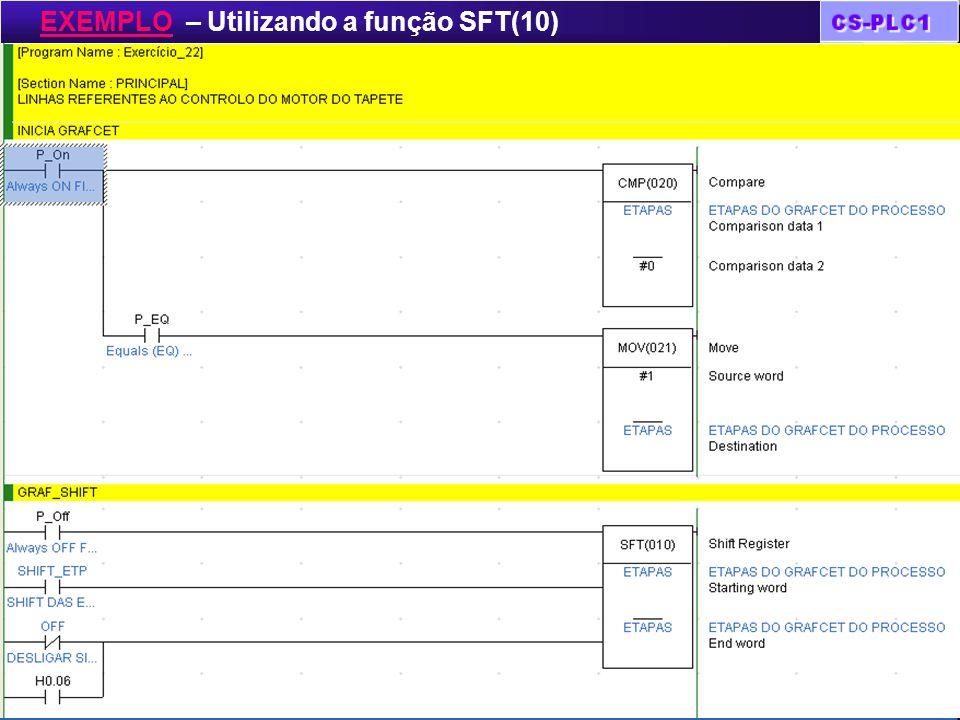 Tratamento de dados EXEMPLO – Utilizando a função SFT(10)