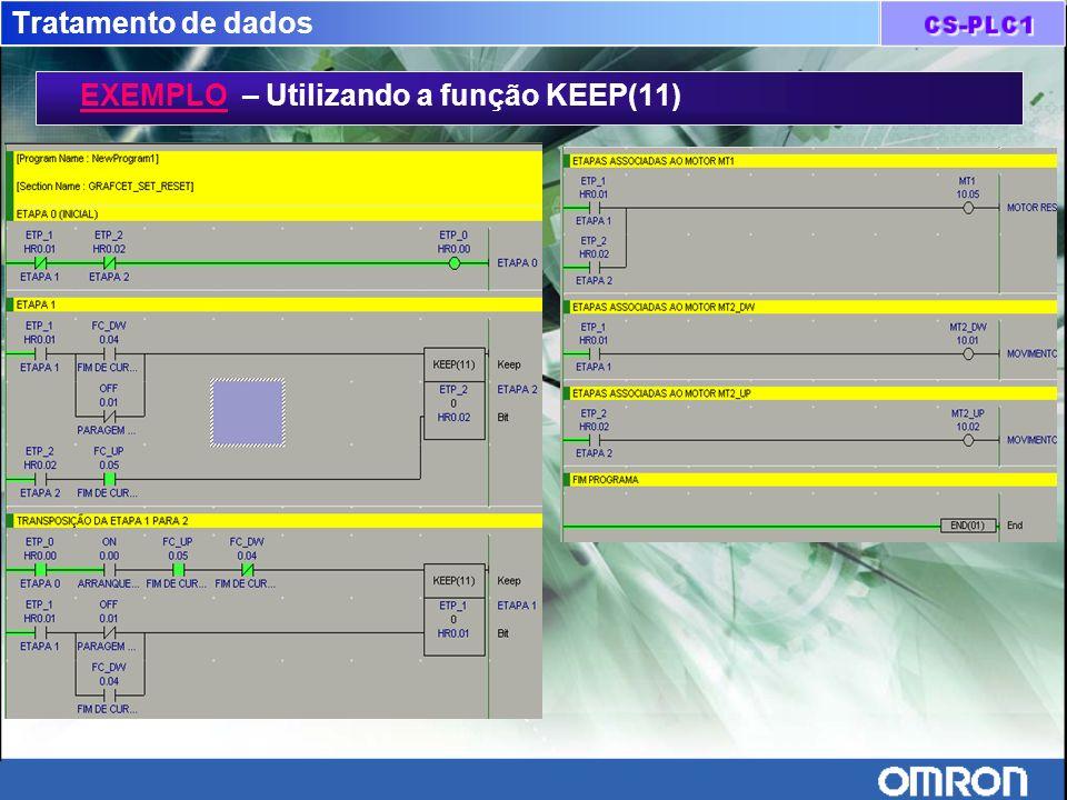 Tratamento de dados EXEMPLO – Utilizando a função KEEP(11)