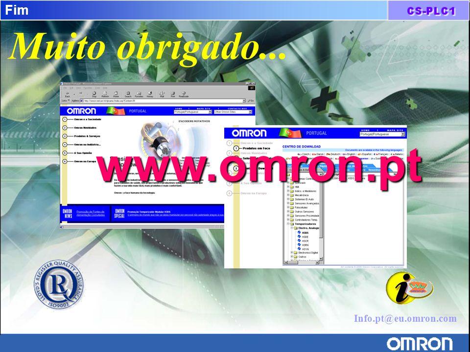 www.omron.pt Muito obrigado... Fim Info.pt@eu.omron.com