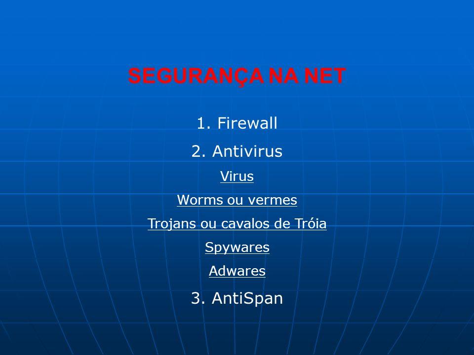 SEGURANÇA NA NET 1.Firewall 2.