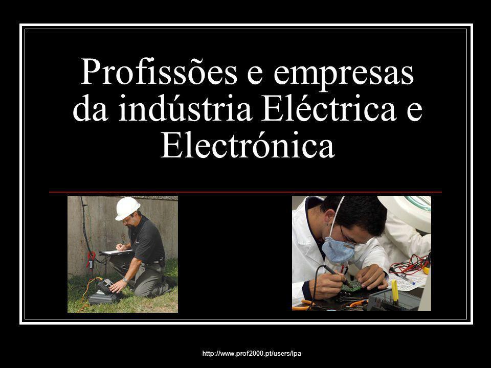 http://www.prof2000.pt/users/lpa Profissões e empresas da indústria Eléctrica e Electrónica