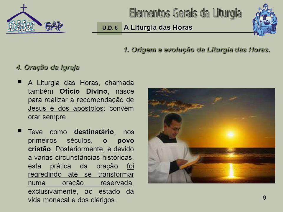 10 1.Origem e evolução da Liturgia das Horas.