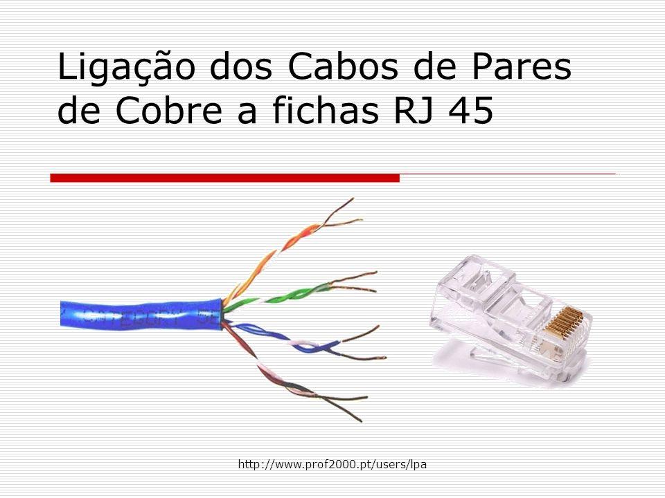 2 Alicate para cravar cabos pares de cobre a fichas RJ45 O alicate possui duas lâminas e uma fenda para a ficha RJ45.