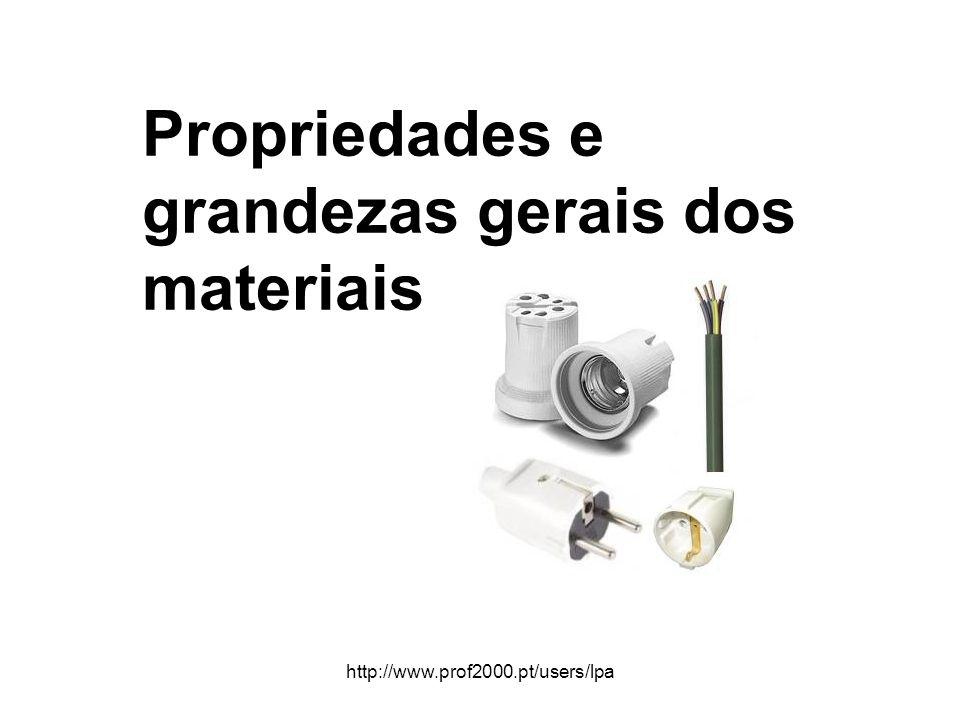 http://www.prof2000.pt/users/lpa Propriedades e grandezas gerais dos materiais