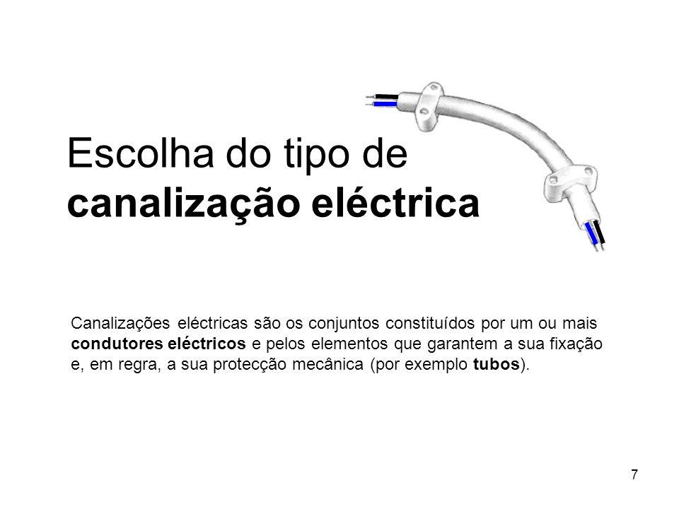 7 Canalizações eléctricas são os conjuntos constituídos por um ou mais condutores eléctricos e pelos elementos que garantem a sua fixação e, em regra,
