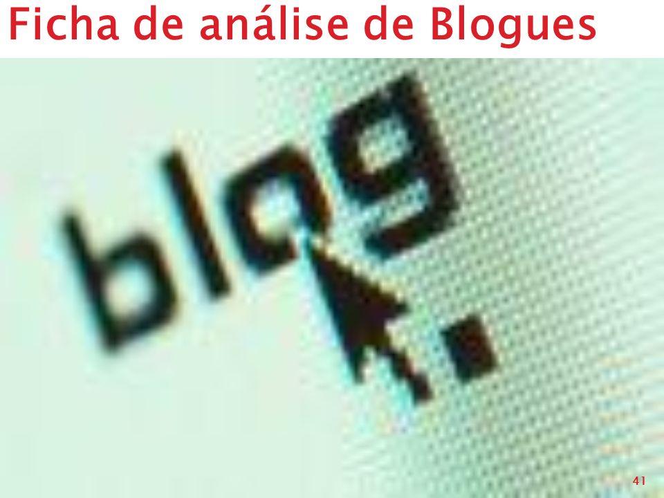 Ficha de análise de Blogues 41