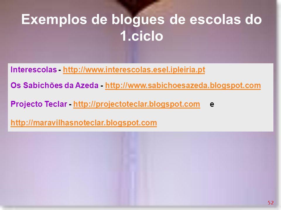 Interescolas - http://www.interescolas.esel.ipleiria.pthttp://www.interescolas.esel.ipleiria.pt Os Sabichões da Azeda - http://www.sabichoesazeda.blog