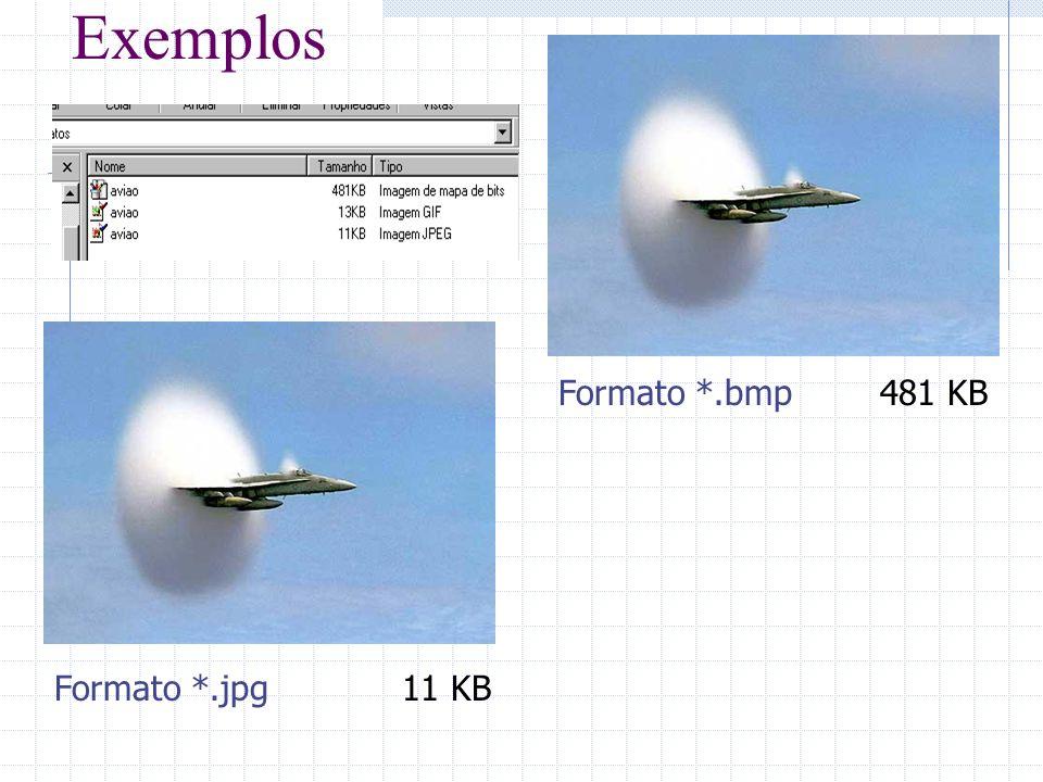 Exemplos Formato *.bmp481 KB Formato *.jpg11 KB