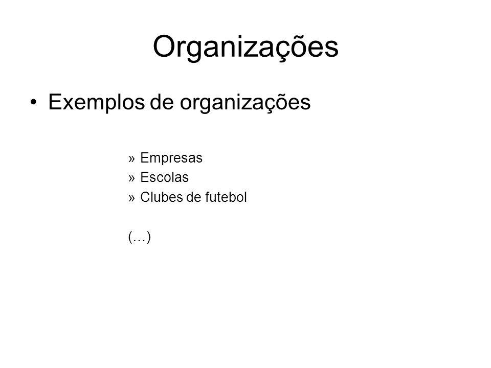 Organizações Exemplos de organizações »Empresas »Escolas »Clubes de futebol (…)