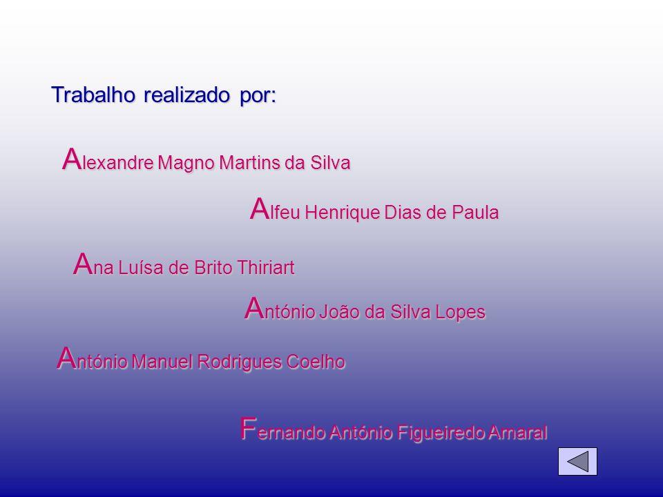 Trabalho realizado por: F ernando António Figueiredo Amaral A lexandre Magno Martins da Silva A lfeu Henrique Dias de Paula A na Luísa de Brito Thiria