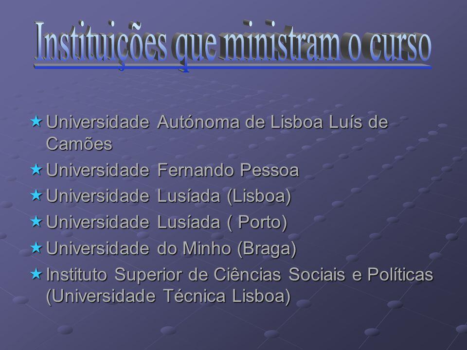 Saídas Profissionais Relações Internacionais dos diversos Ministérios Relações Internacionais dos diversos Ministérios Cooperação com os Estados Estra