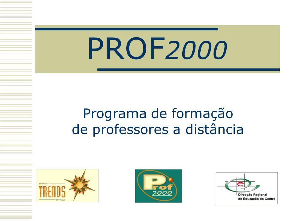 PROF 2000 Programa de formação de professores a distância