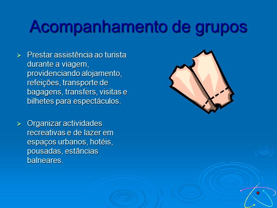 Áreas de Actuação Acompanhamento de grupos Administração Marcação de viagens Planeamento