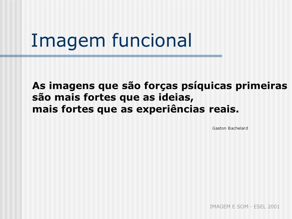 Imagem funcional As imagens que são forças psíquicas primeiras são mais fortes que as ideias, mais fortes que as experiências reais. Gaston Bachelard