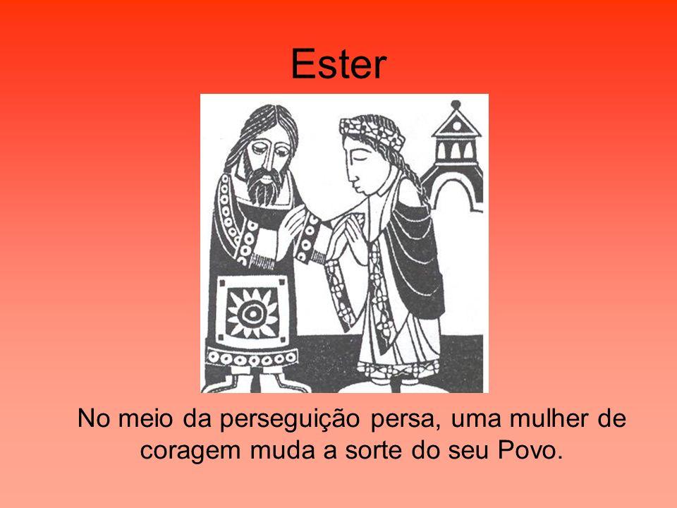 Ester No meio da perseguição persa, uma mulher de coragem muda a sorte do seu Povo.