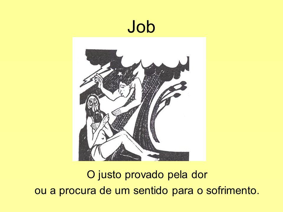 Job O justo provado pela dor ou a procura de um sentido para o sofrimento.