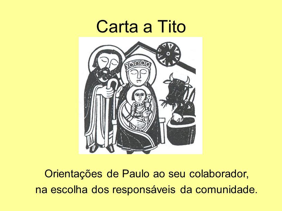 Carta a Tito Orientações de Paulo ao seu colaborador, na escolha dos responsáveis da comunidade.