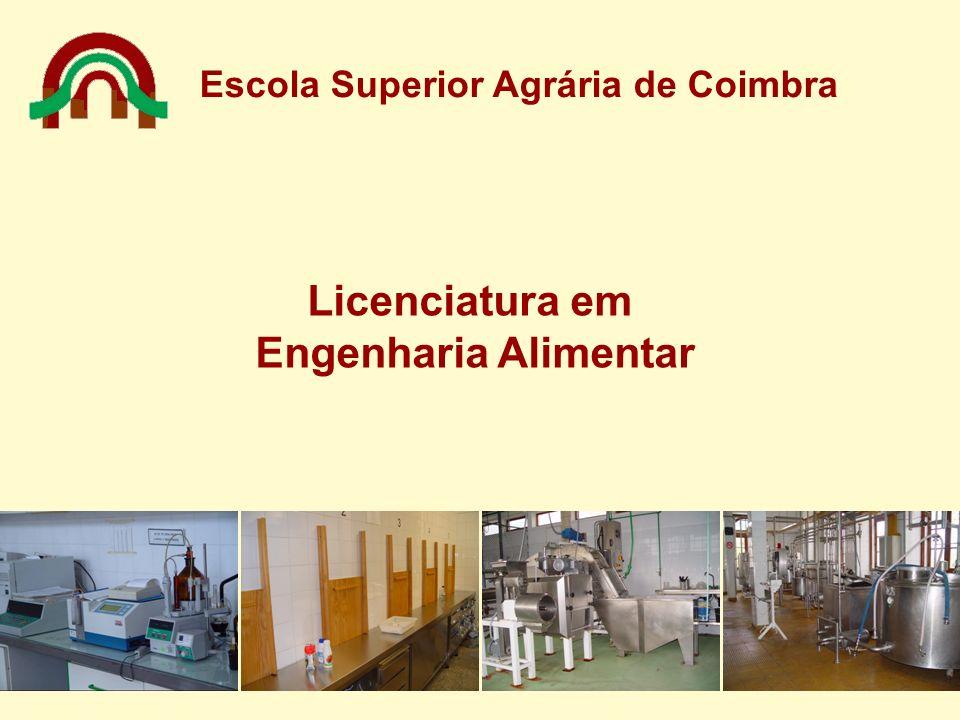 Escola Superior Agrária de Coimbra Licenciatura em Engenharia Alimentar