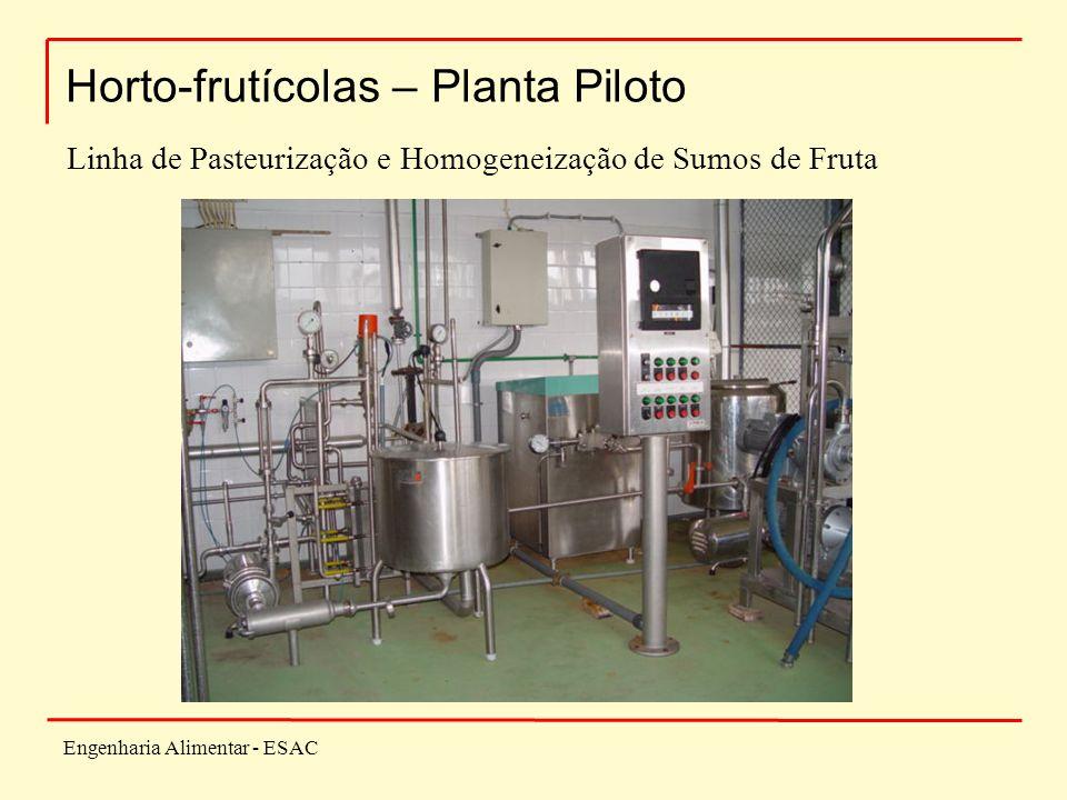 Engenharia Alimentar - ESAC Horto-frutícolas – Planta Piloto Linha de Pasteurização e Homogeneização de Sumos de Fruta