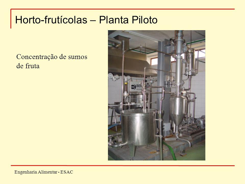 Engenharia Alimentar - ESAC Horto-frutícolas – Planta Piloto Concentração de sumos de fruta