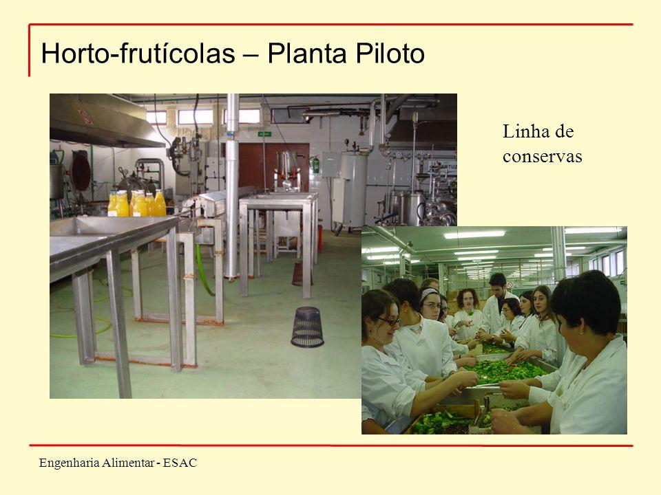 Engenharia Alimentar - ESAC Horto-frutícolas – Planta Piloto Linha de conservas