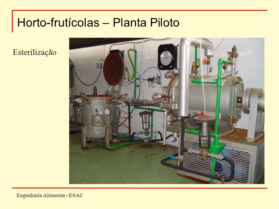 Engenharia Alimentar - ESAC Horto-frutícolas – Planta Piloto Esterilização