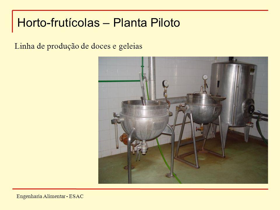 Engenharia Alimentar - ESAC Horto-frutícolas – Planta Piloto Linha de produção de doces e geleias