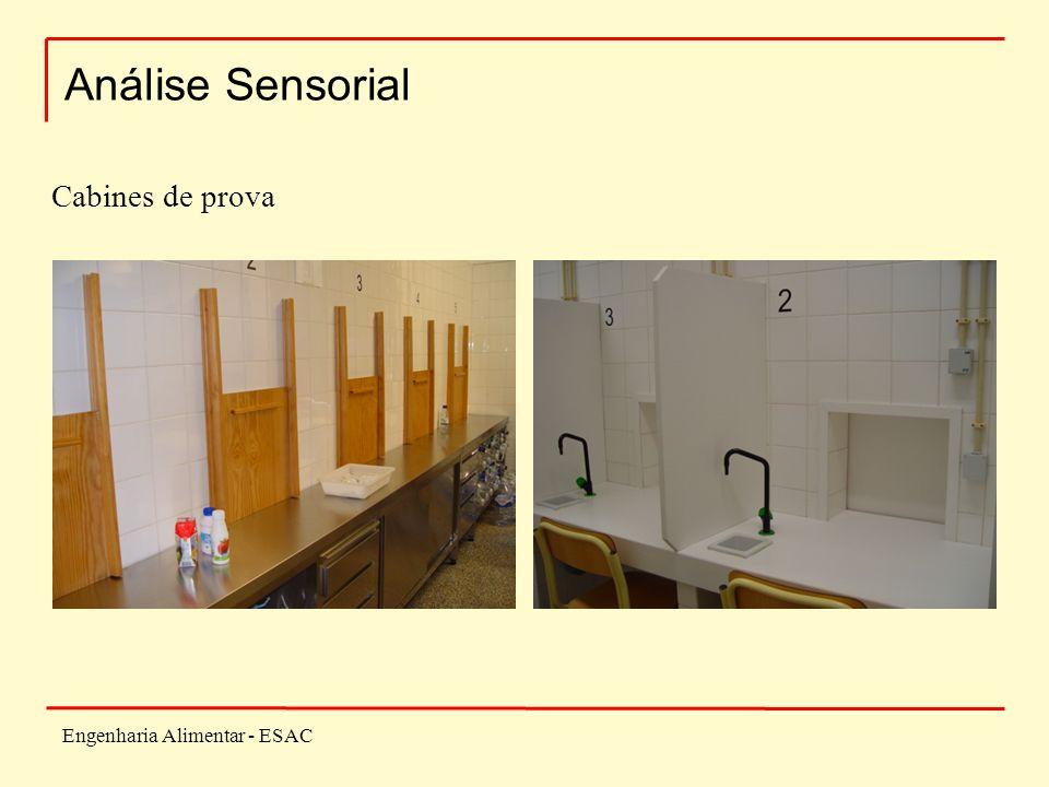 Engenharia Alimentar - ESAC Análise Sensorial Cabines de prova