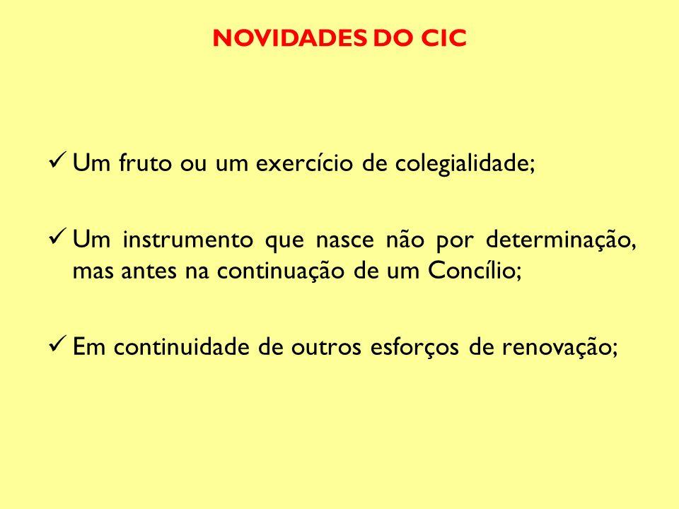 Um fruto ou um exercício de colegialidade; Um instrumento que nasce não por determinação, mas antes na continuação de um Concílio; Em continuidade de