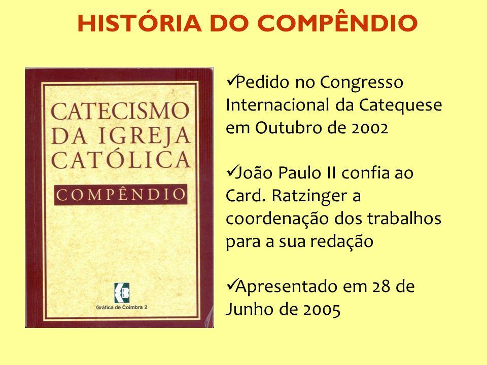 Pedido no Congresso Internacional da Catequese em Outubro de 2002 João Paulo II confia ao Card. Ratzinger a coordenação dos trabalhos para a sua redaç