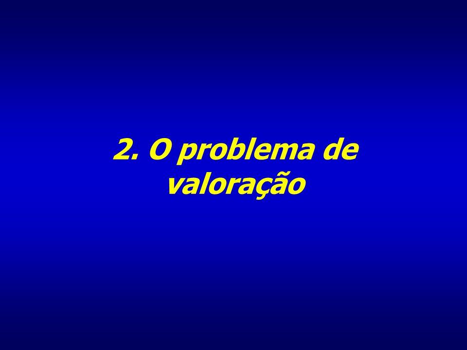 2. O problema de valoração