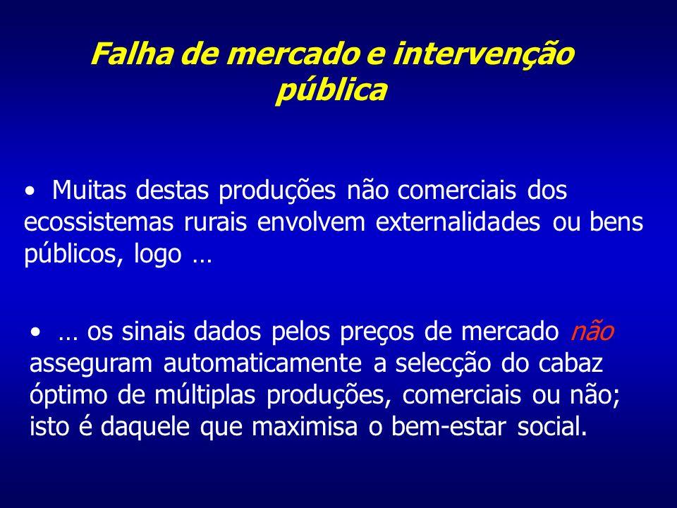 O objectivo de intervenção pública aqui é o de aumentar o bem-estar social, modificando o cabaz de bens e serviços, comerciais ou não, que recebemos dos ecossistemas rurais.
