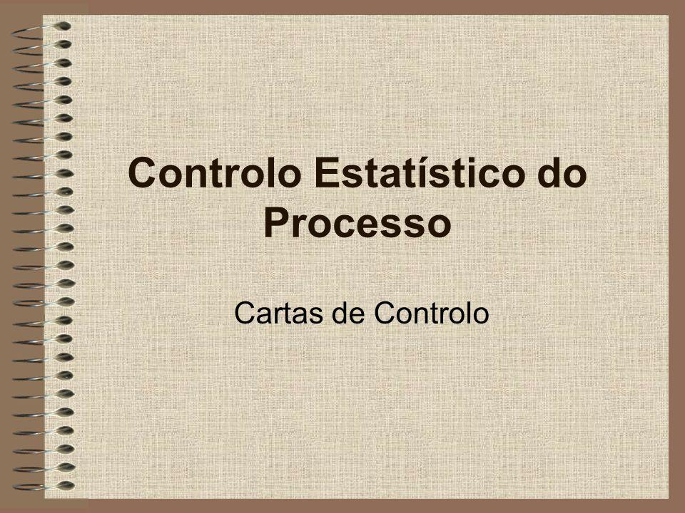 Servem para verificar se o processo está sob controlo ao longo do tempo Dois tipos: –Variáveis Peso, medida, pH, etc.
