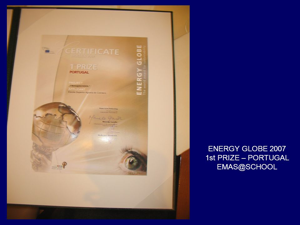ENERGY GLOBE 2007 1st PRIZE – PORTUGAL EMAS@SCHOOL