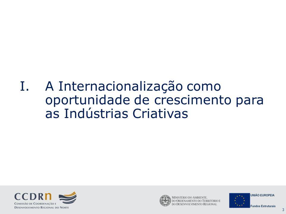 4 Internacionalização e Indústrias Criativas (IC) Internacionalização: oportunidade ou imperativo estratégico.