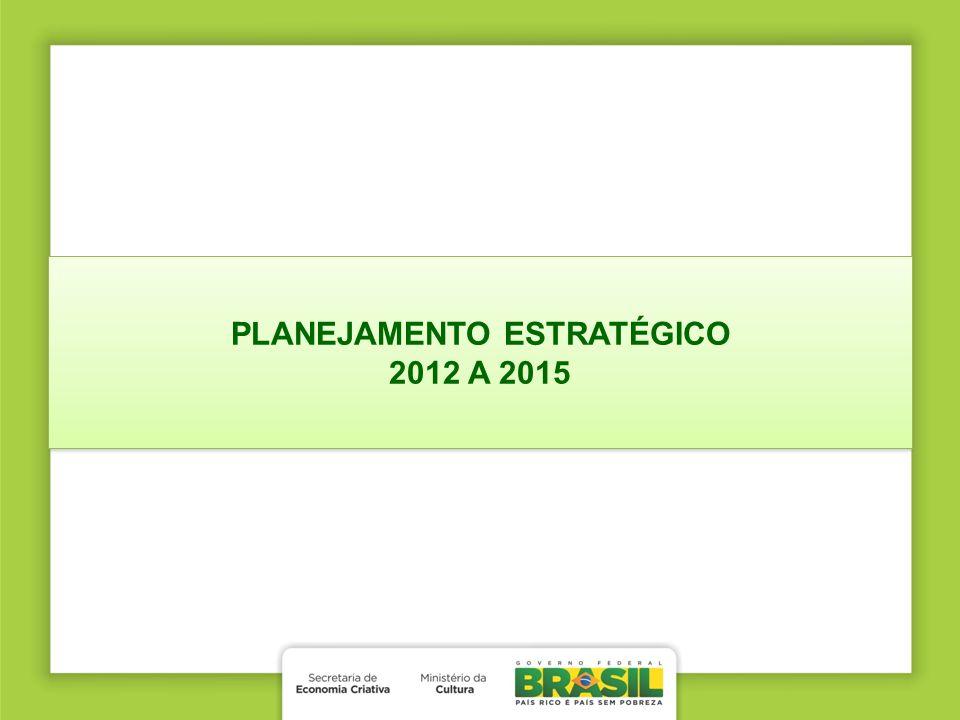 PLANEJAMENTO ESTRATÉGICO 2012 A 2015 PLANEJAMENTO ESTRATÉGICO 2012 A 2015