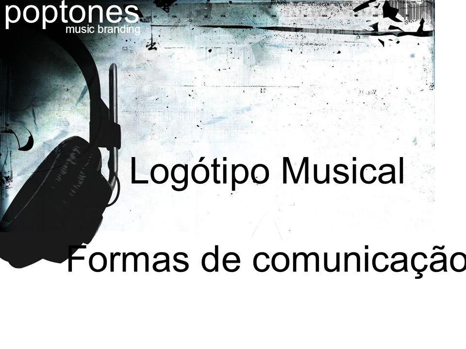 Logótipo Musical Formas de comunicação poptones music branding