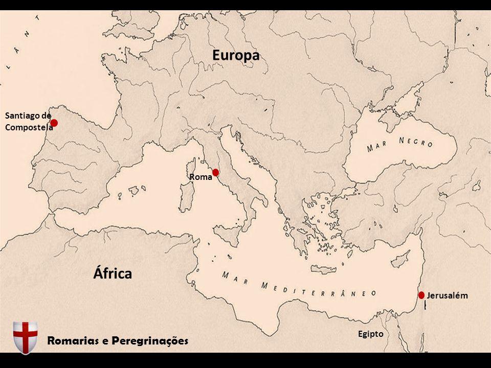 Jerusalém Egipto Roma Santiago de Compostela África Romarias e Peregrinações Europa