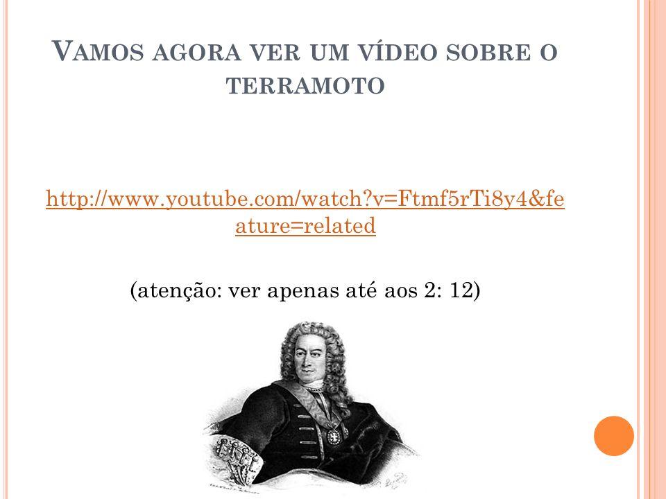 V AMOS AGORA VER UM VÍDEO SOBRE O TERRAMOTO http://www.youtube.com/watch?v=Ftmf5rTi8y4&fe ature=related (atenção: ver apenas até aos 2: 12)