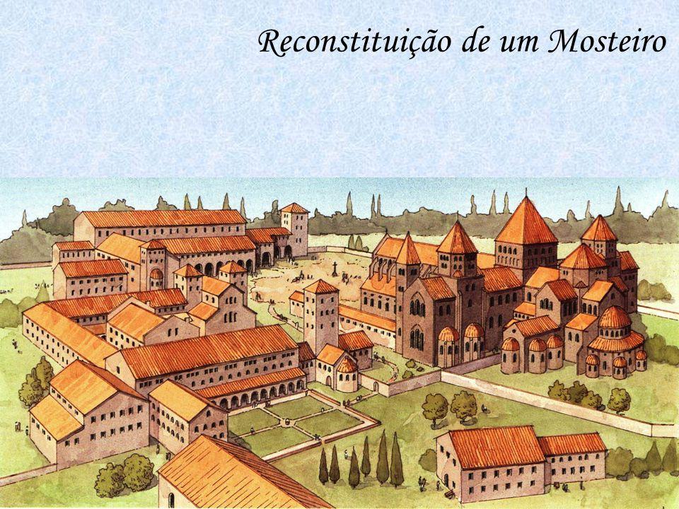 Os trabalhos no Mosteiro