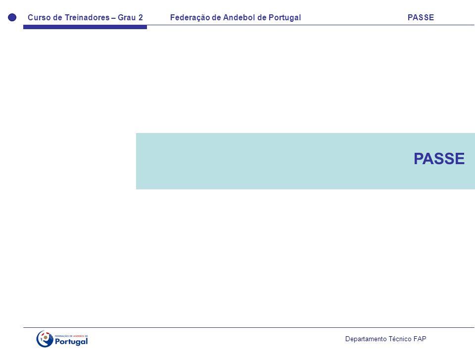 Curso de Treinadores – Grau 2 Federação de Andebol de Portugal PASSE Departamento Técnico FAP PASSE