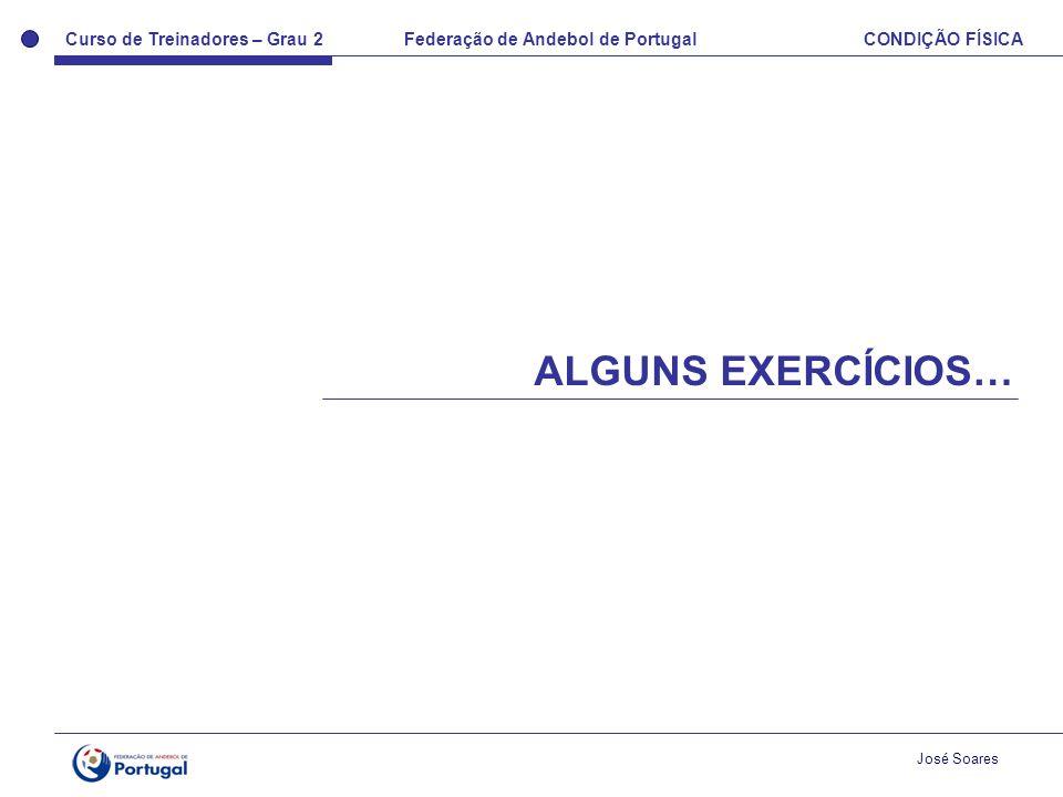 Curso de Treinadores – Grau 2 Federação de Andebol de Portugal CONDIÇÃO FÍSICA José Soares ALGUNS EXERCÍCIOS…