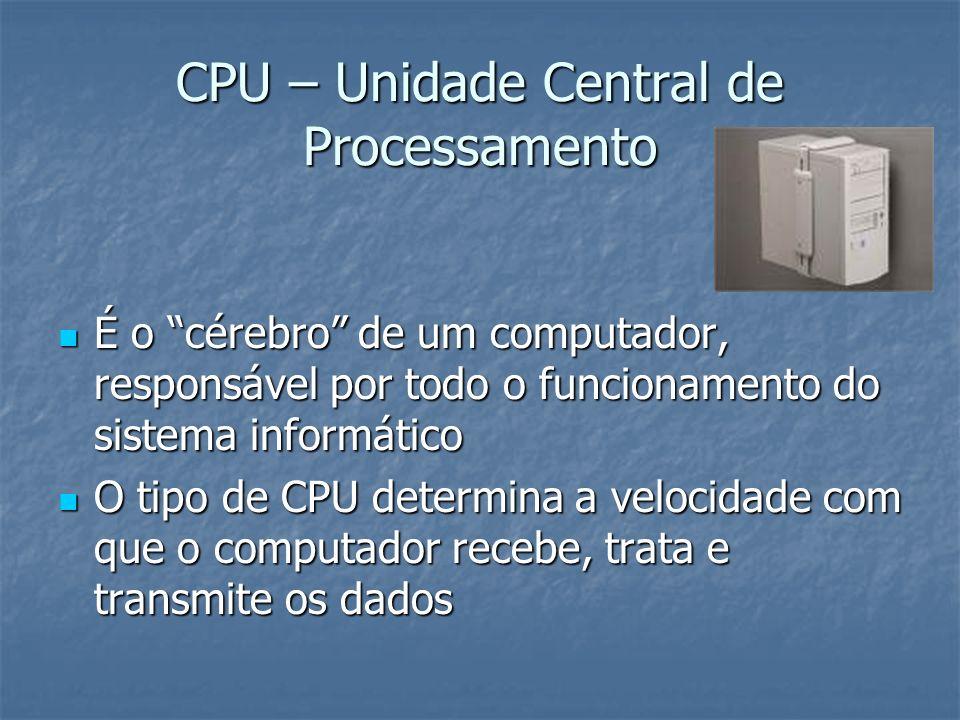Chipset Constituído por vários circuitos integrados – faz a gestão das ligações entre o processador, a memória, a unidade de processamento gráfico e os vários controladores periféricos.