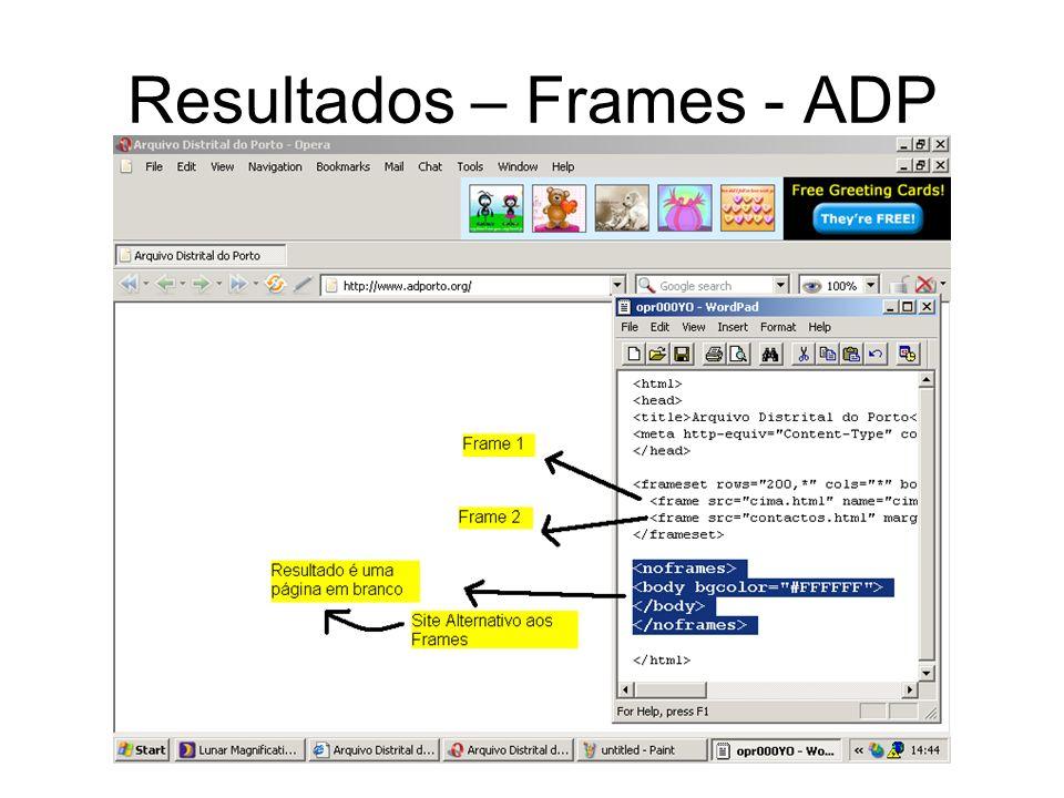 Resultados – Frames - ADP