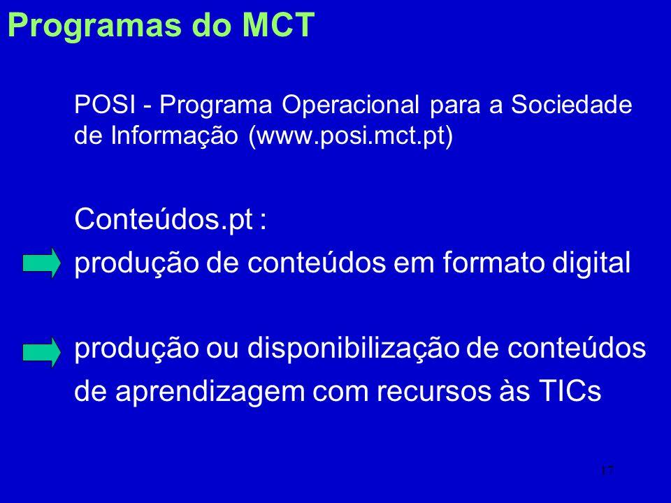 16 Requisitos para pessoas surdas Definir curriculum e exame alternativo Preparar materiais alternativos (conteúdos) Definir sistema de credenciação